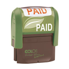 View more details about COLOP Green Line Word Stamp PAID Red GLP20PAID