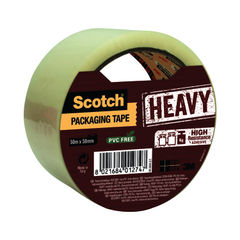 View more details about Scotch 50mm x 50m Clear Heavy Packaging Tape - HV.5050.S.T