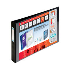 View more details about Elba Vision 30mm 4D-Ring Binder Oblong A3 Black 400000113