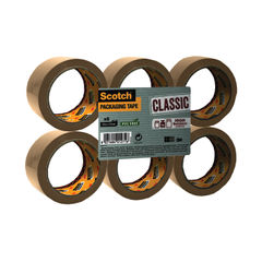 View more details about Scotch 50mm x 66m Buff Polypropylene Packaging Tape, Pack of 6 - C5066SF6