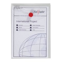 View more details about Snopake Polyfile P File Wallet Portrait A6 Clear (Pack of 5) 13293