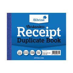 View more details about Silvine Carbonless Duplicate Receipt Book 102x127mm (Pack of 12) 720-T