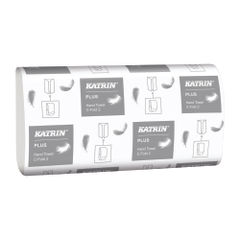 View more details about Katrin White 2-Ply C-Fold Plus Hand Towels, Pack of 24 - 344388