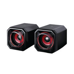 View more details about SureFire Black and Red Gator Eye Gaming Speakers - 48820
