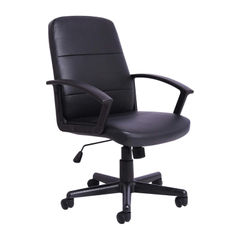 View more details about First Black PU Leather Manager Office Chair
