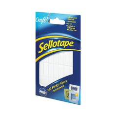 View more details about Sellotape 12 x 25mm Permanent Sticky Fixers, Pack of 140 - 1445422