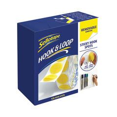 View more details about Sellotape Sticky Hook Spots Removable (Pack of 125) 2055787