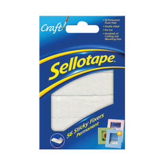 View more details about Sellotape Sticky Fixers 12mm x 25mm Permanent (Pack of 56)  - 484331