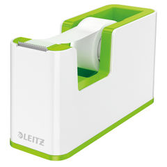 View more details about Leitz WOW Tape Dispenser Dual Colour White/Green 53641054