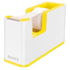View more details about Leitz WOW Tape Dispenser Dual Colour White/Yellow 53641016