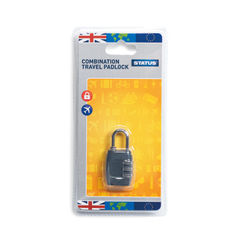 View more details about Status Three-Digit Combination Travel Padlock, Pack of 5 - SCPLOCK1PK5