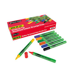 View more details about Show-me Assorted Medium Drywipe Markers, Pack of 50 - SDP50A