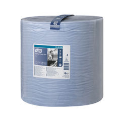 View more details about Tork W1 510m Blue 2-Ply Wiping Paper Plus Roll - 130050