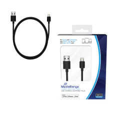 View more details about Reviva 3A Twin USB In Car Chrgr + MediaRange Chrg Sync Cbl USB 2.0 to Apple Lightng Bundle REV12502