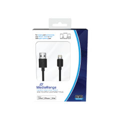 View more details about MediaRange Charge and Sync Cable USB 2.0 to Apple Lightning MRCS137