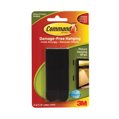 View more details about 3M Command Large Picture Hanging Strips Black (Pack of 4) 17206BLK