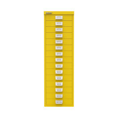 View more details about Bisley 860mm Canary Yellow 15 Drawer Cabinet - BY78745