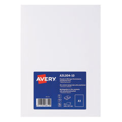 View more details about Avery Matte White A3 Display Labels (Pack of 10) - A3L004-10