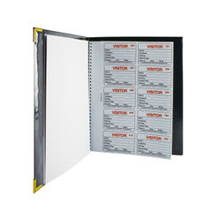 View more details about Identibadge Complete Visitors Book 100 Insert IBVBSYS