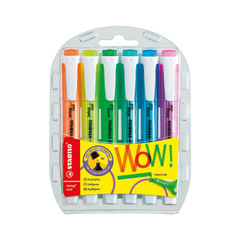 View more details about STABILO Assorted Swing Cool Highlighters, Pack of 6 - 275/6-3
