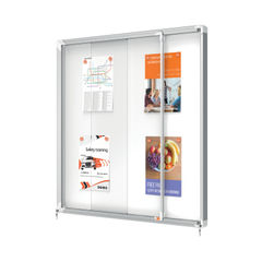 View more details about Nobo 12 x A4 Internal Glazed Magnetic Display Case - 1902570