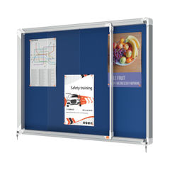 View more details about Nobo Premium Plus Felt Lockable Notice Board 8xA4 1902565