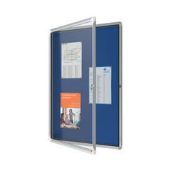 View more details about Nobo Premium Plus Felt Lockable Notice Board 9xA4 1902556