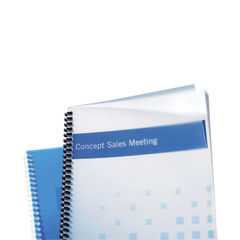 View more details about GBC PolyClearView A4 Frosted Clear Binding Covers (Pack of 50) IB387159