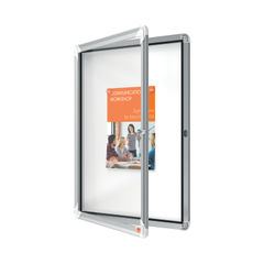 View more details about Nobo Premium Plus Outdoor Magnetic Lockable Notice Board 4xA4 1902577