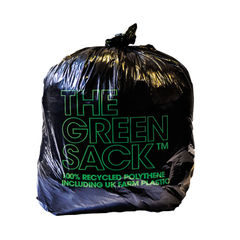View more details about The Green Sack Black Medium Duty Refuse Sacks, Pack of 200 - GR0006