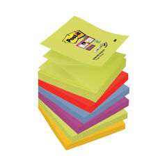 View more details about Post-it Super Sticky Z-Notes 76 x 76mm Marrakesh (Pack of 6) R330-6SS-MAR-EU