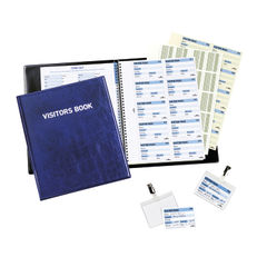 View more details about Durable 100 Badge Insert Visitors Book - 1463/00