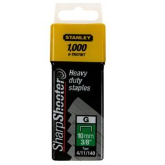 View more details about Stanley SharpShooter Heavy Duty 10mm 3/8in Type G Staples (Pack of 1000) 1-TRA706T