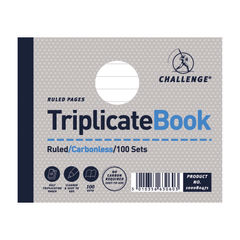 View more details about Challenge Ruled Carbonless Triplicate Book 100 Sets 105x130mm (Pack of 5) 100080471