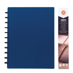 View more details about M By Staples ARC Notebook PP Cover Lined 60 Sheets A4 Blue 8851101