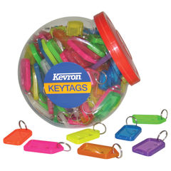 View more details about Kevron Plastic Clicktag Key Tag Large Assorted Tub (Pack of 70) ID30AC70