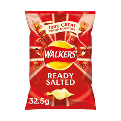 View more details about Walkers Ready Salted Crisps 32.5g (Pack of 32) 121797