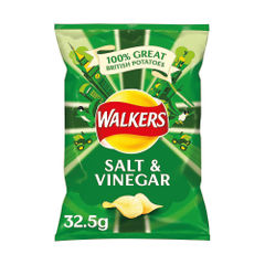 View more details about Walkers Salt and Vinegar Crisps 32.5g (Pack of 32) 121795
