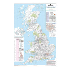 View more details about Map Marketing UK Postcode Areas Laminated Map, (Each) - BIPA