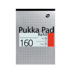 View more details about Pukka Pad Ruled Metallic Four-Hole Refill Pad Top Bound 160 Pages A4 (Pack of 6) 80/1