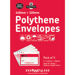 View more details about Polythene 440x320 Envelopes (Pack of 20) 101-3485