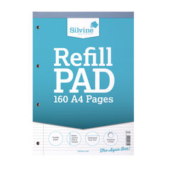 View more details about Silvine Narrow Ruled Headbound Refill Pad A4 (Pack of 6) A4RPNM