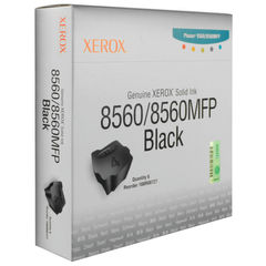 View more details about Xerox 8560 Black Solid Wax Ink, Pack of 6 - 108R00727