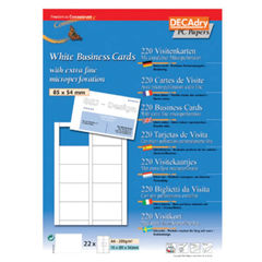 View more details about Decadry T403327 Business Cards 85x54mm 200gsm (Pack of 220) OCB-3327
