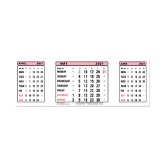 View more details about At-A-Glance Calendar Refill 2021 3 Month View 3SR21