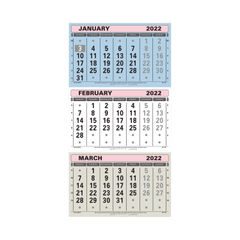 View more details about At-A-Glance 3 Monthly Calendar 2022 TML22