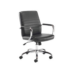 View more details about Jemini Amalfi Black Leather Look Office Meeting Chair