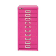 View more details about Bisley 590mm Fuschia 10 Drawer Cabinet - BY78742