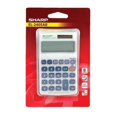 View more details about Sharp EL-240SAB Handheld Calculator, 8 Digit Display - 5491192