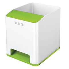 View more details about Leitz WOW Sound Pen Holder Dual Colour White/Green 53631054